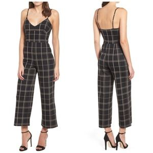 NWT Leith Windowpane Check Jumpsuit